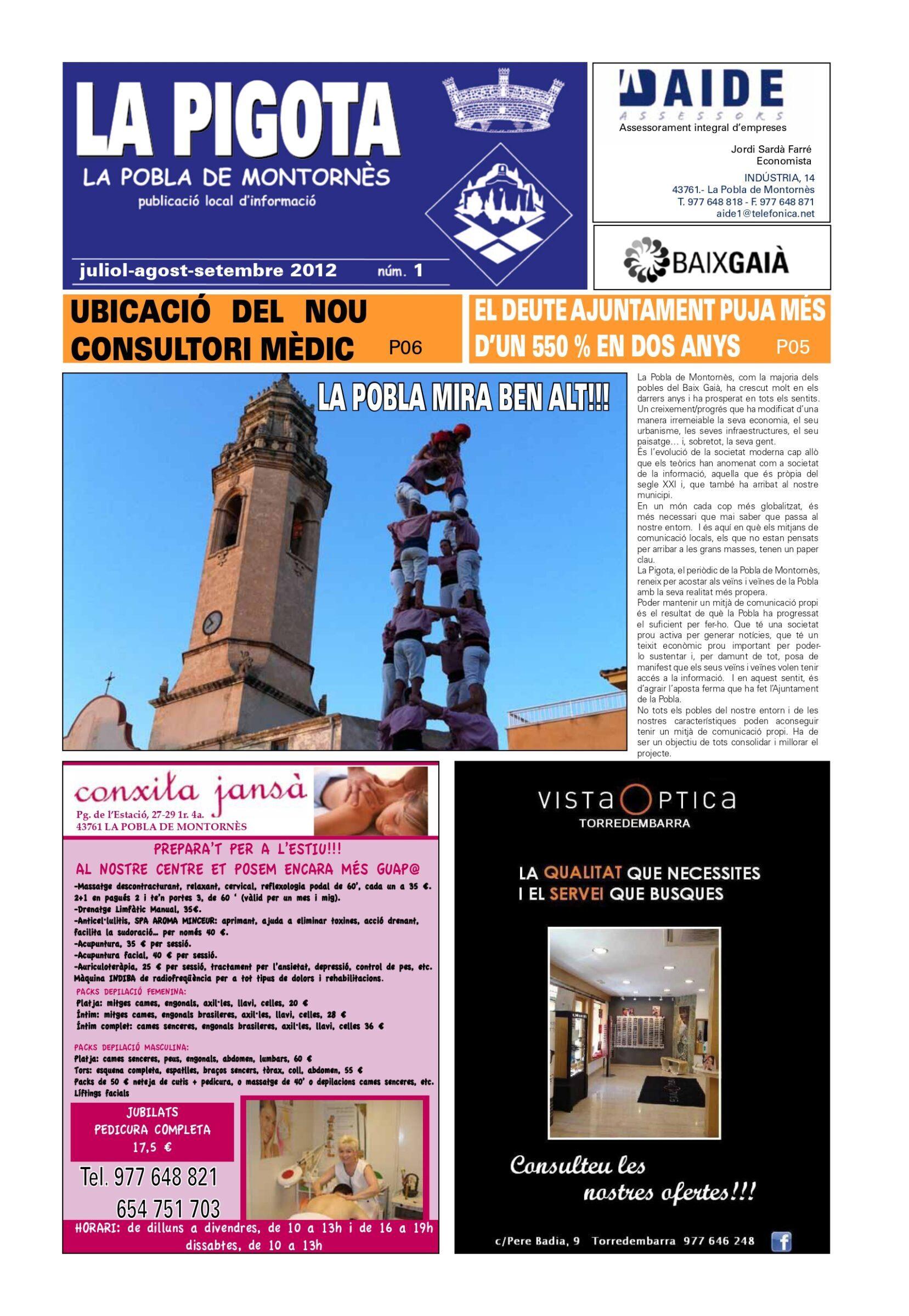 Revista La Pigota núm. 1 (Juliol,Agost i Setembre 2012)