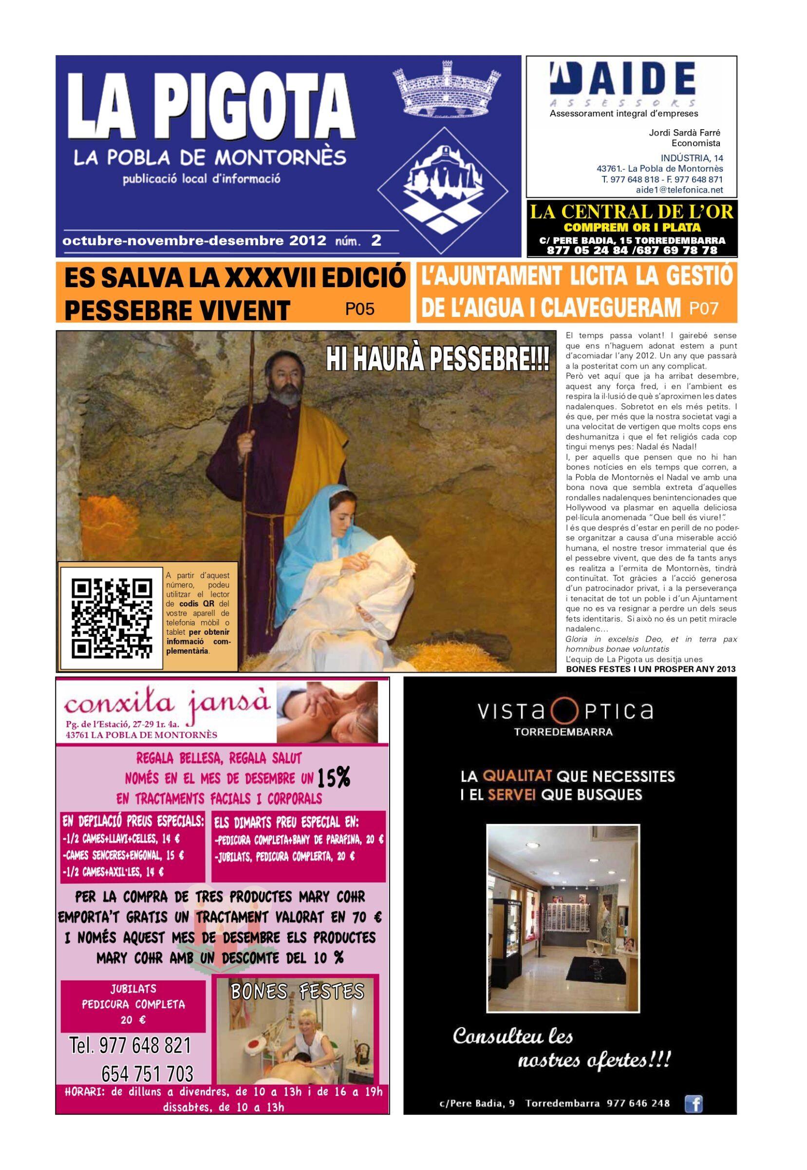 Revista La Pigota núm. 2 (Octubre, Novembre i Desembre 2012)