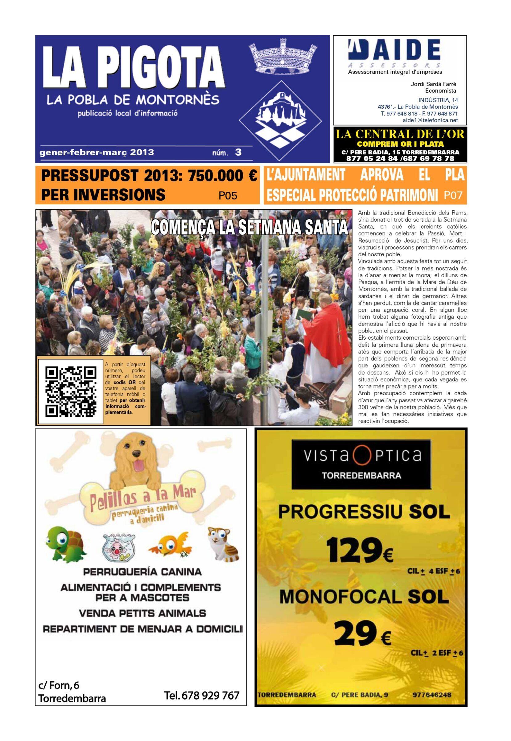 Revista La Pigota núm. 3 (Gener, Febrer i Març 2013)