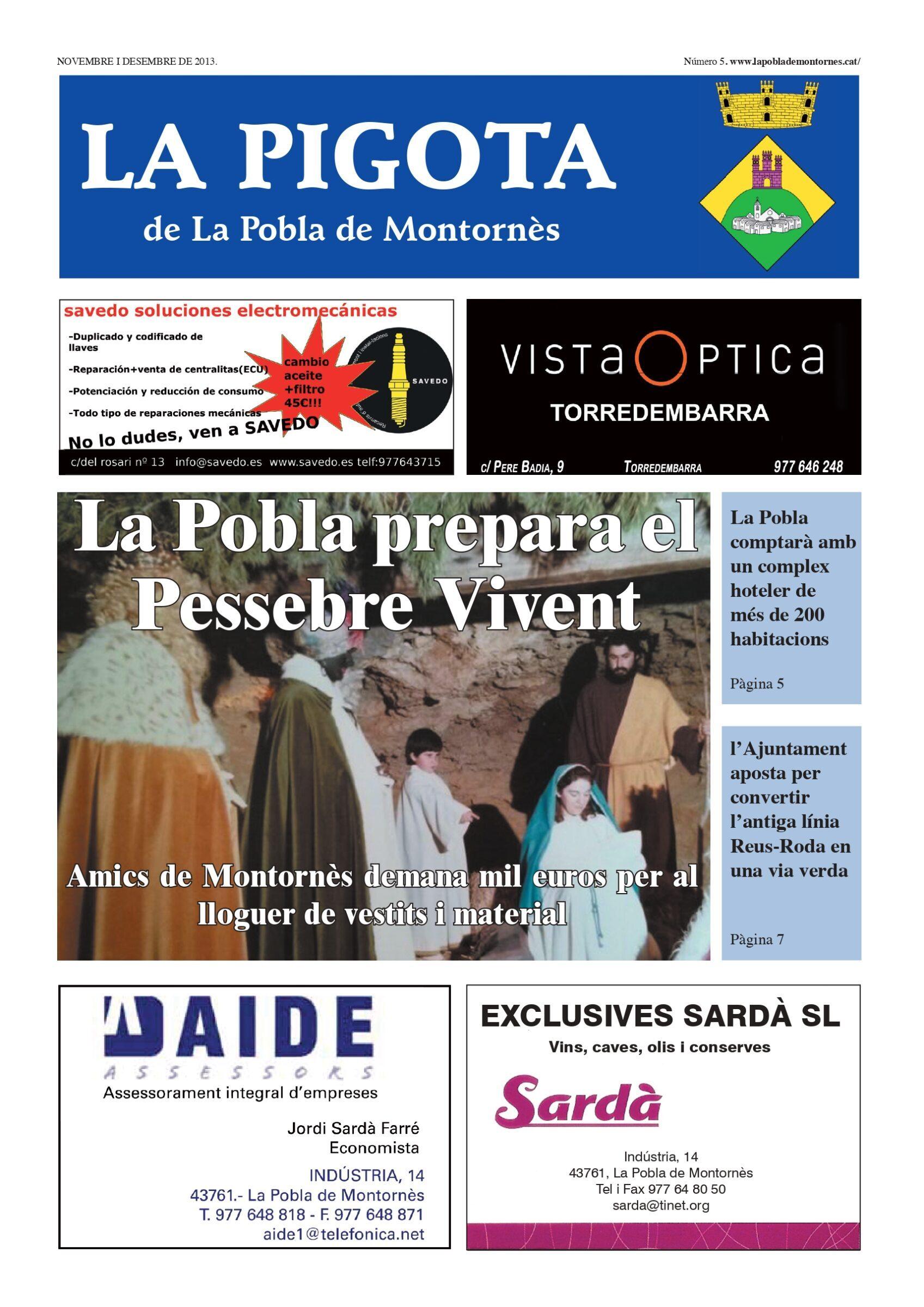 Revista La Pigota núm. 5 (Novembre i Desembre 2013)