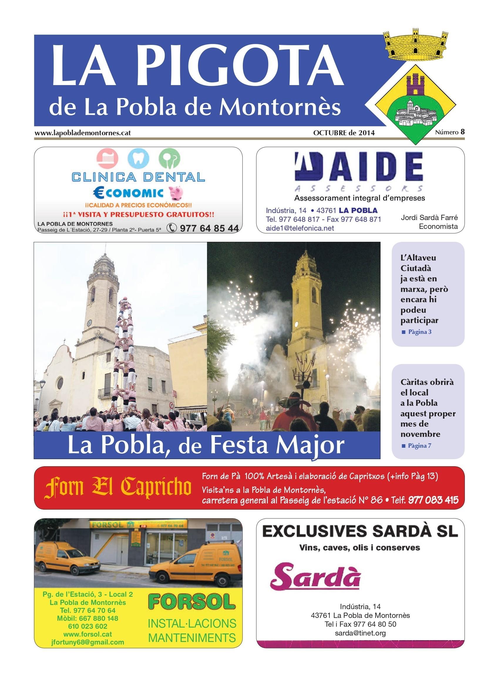 Revista La Pigota núm. 8 (Setembre i Octubre 2014)