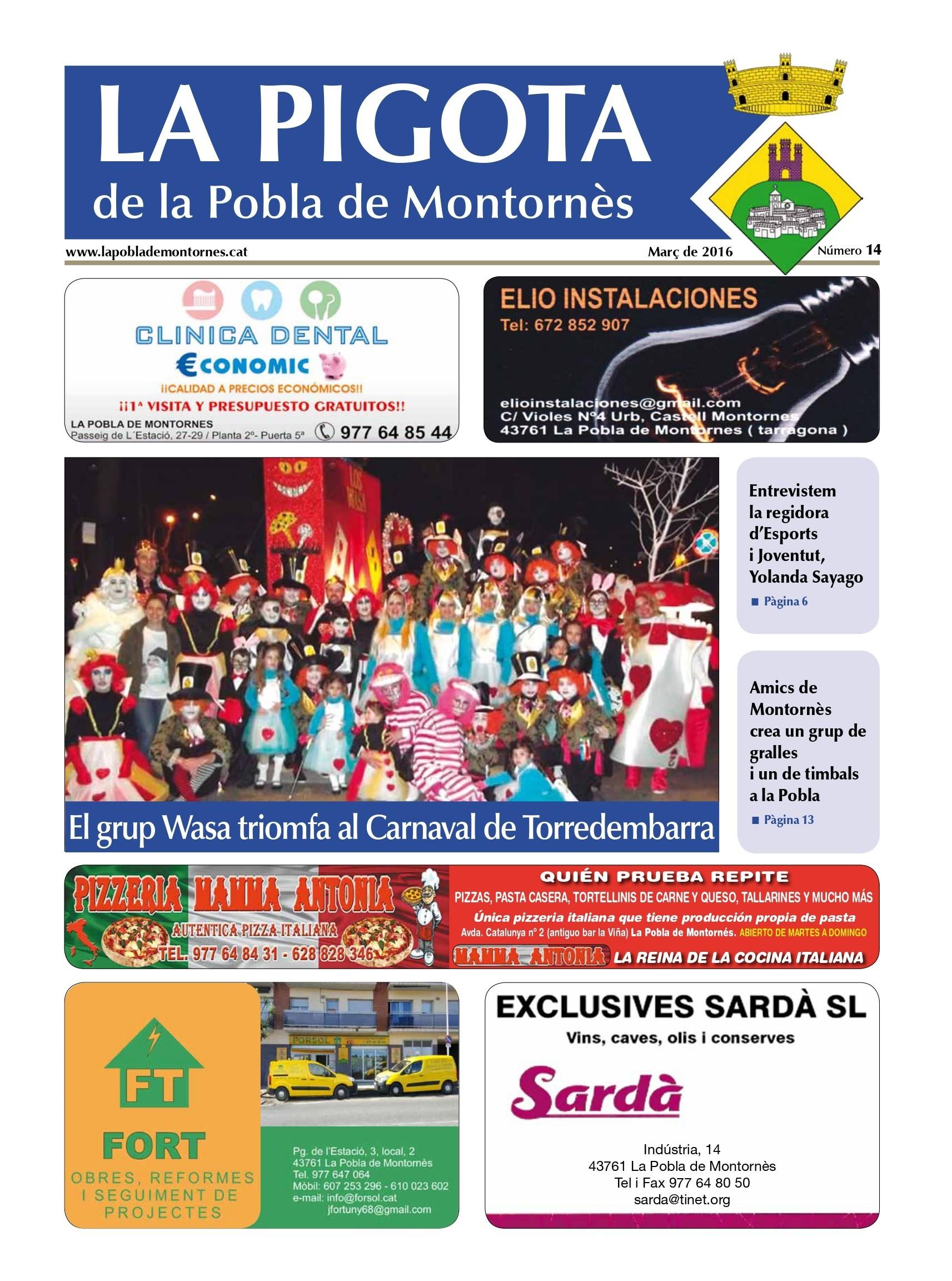 Revista La Pigota núm. 14 (Gener, Febrer i Març 2016)