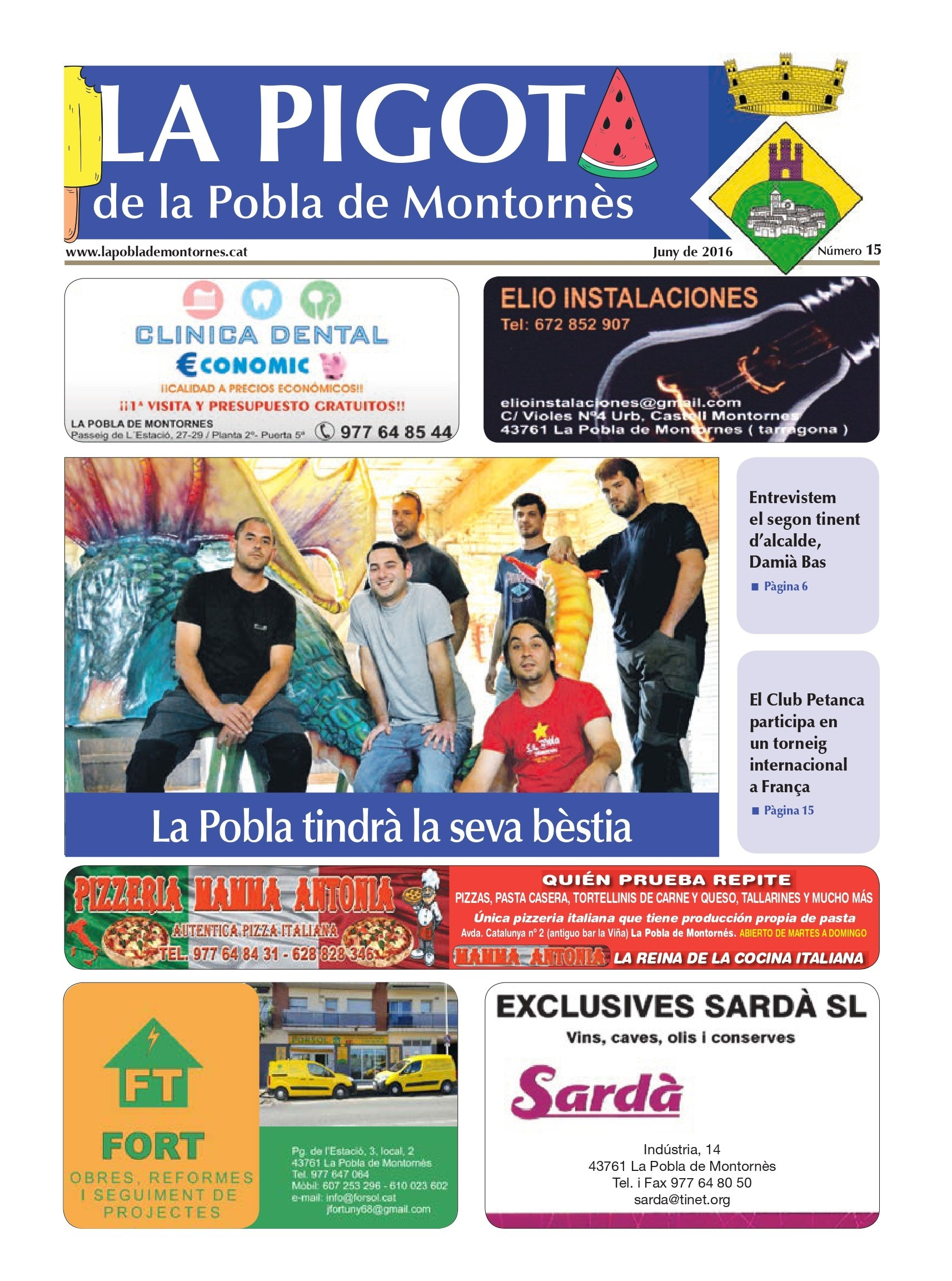 Revista La Pigota núm. 15 (Abril, Maig i Juny 2016)