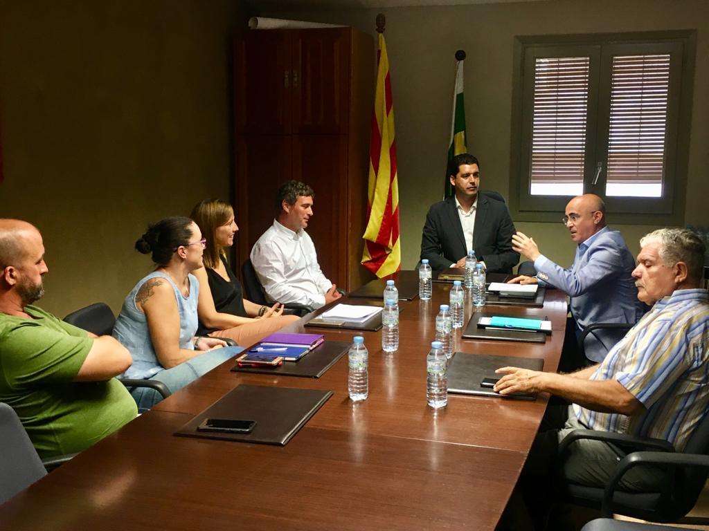 El delegat del Govern a Tarragona, Òscar Peris, visita la Pobla de Montornès