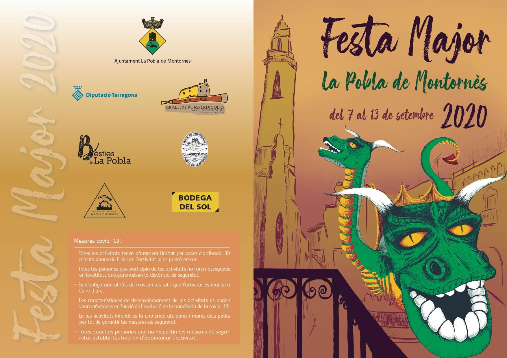 Programa de la Festa Major de la Pobla de Montornès 2020
