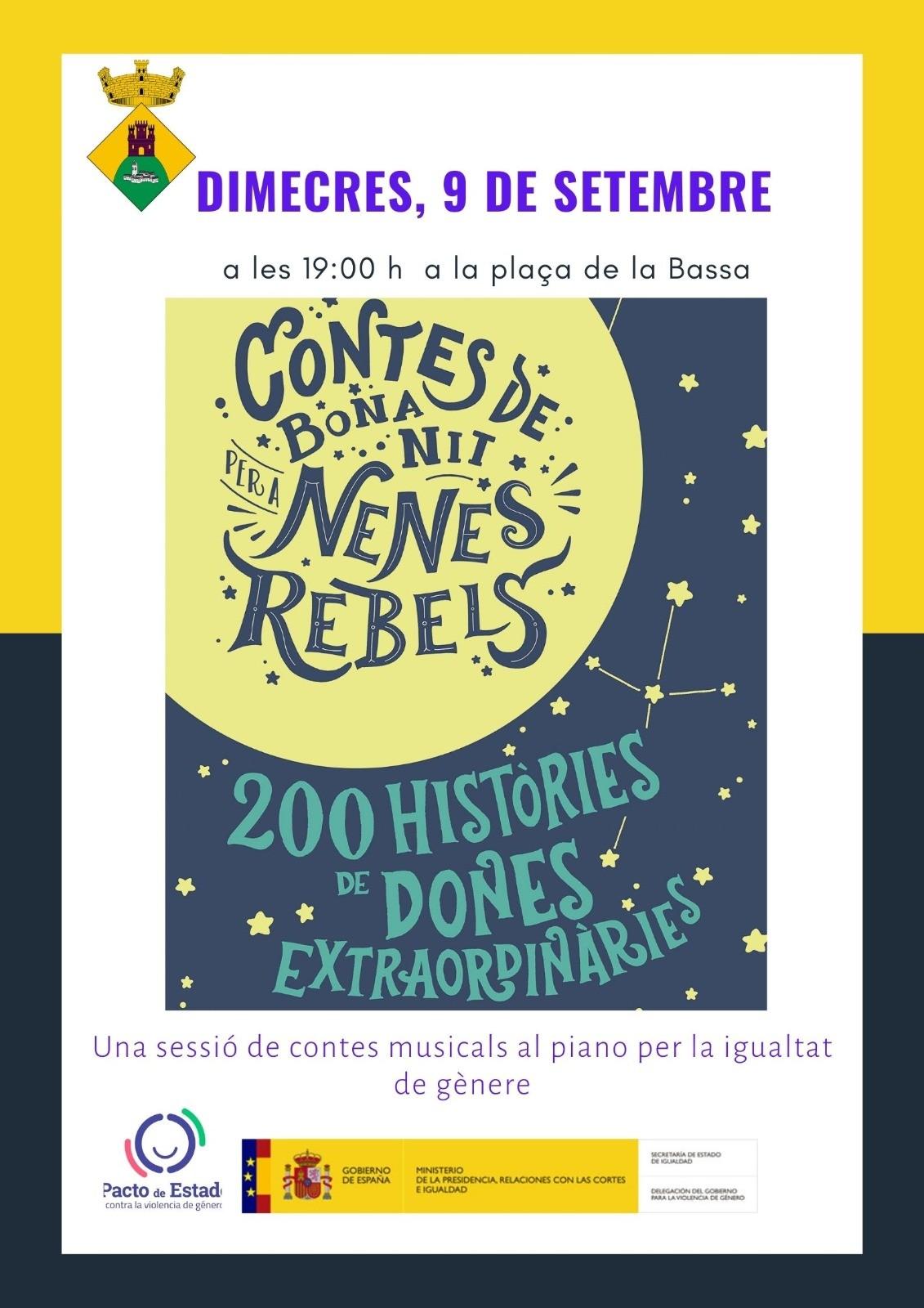 Espectacle infantil aquest 9 de setembre: 'Contes de bona nit per a nenes rebels'