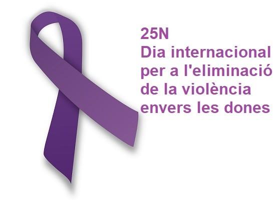 Ens sumem al manifest del Dia internacional per a l'eliminació de la violència envers les dones