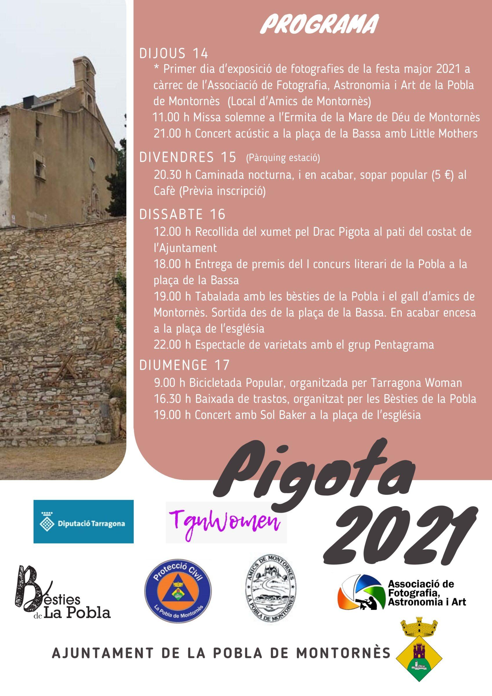 Programa de la Festa de la Pigota 2021